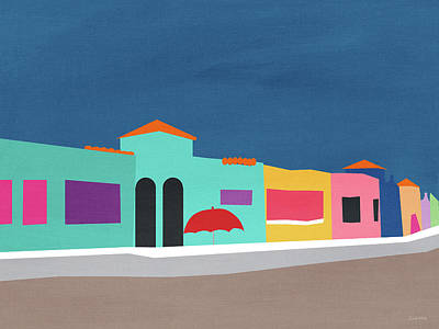 Capitola Venetian- Art By Linda Woods Art Print