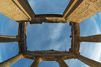 Photograph - Capitoline Temple In Dougga by Mohamed Yahia