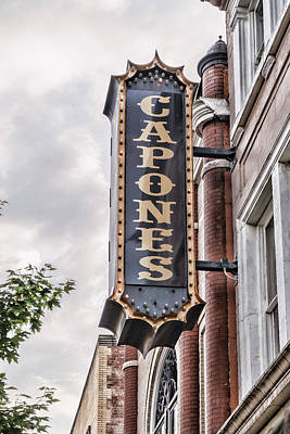 Photograph - Capones Sign by Sharon Popek