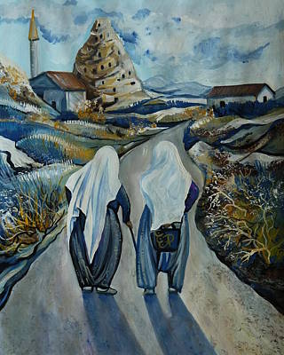 Painting - Cappadocia Impressions. Old Friends by Anna Duyunova
