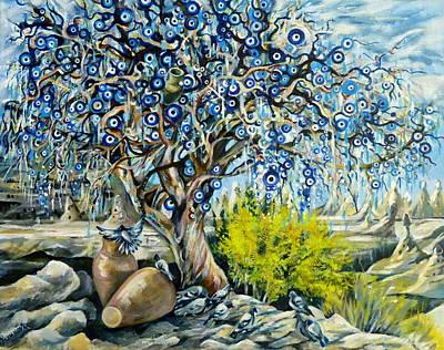 Cappadocia Nazar Tree Print by Anna Duyunova