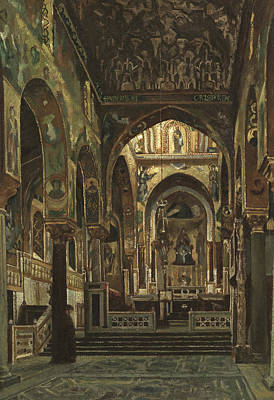 Orthodox Icons Painting - Cappella Palatina, Palermo  by Frederic Leighton