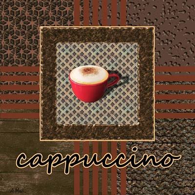 Photograph - Cappuccino - Coffee Art - Red by Anastasiya Malakhova