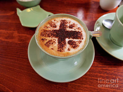 Photograph - Cappuccino With A Union Jack Theme by Louise Heusinkveld
