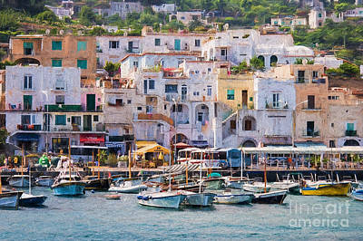 Capri Boat Harbor Art Print