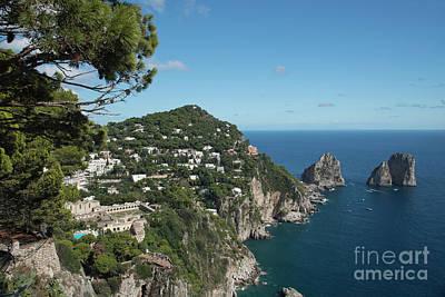 Photograph - Faraglioni Rocks Capri  by Loriannah Hespe