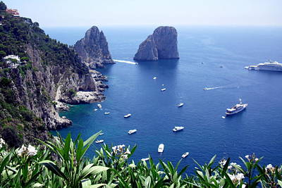 Photograph - Capri Faraglioni From The Island by Jodie Marie Anne Richardson Traugott          aka jm-ART