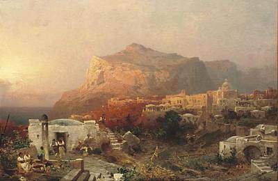 Capri Painting - Capri by Franz Richard