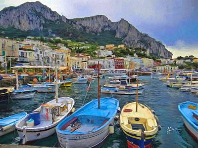 Photograph - Capri Harbor by TK Goforth