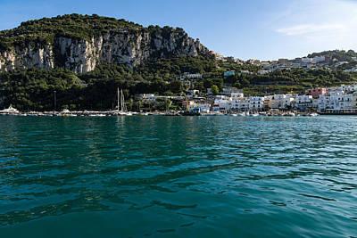 Photograph - Capri Island Silky Smooth Emerald And Aquamarine by Georgia Mizuleva