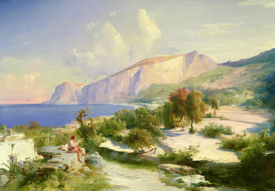 Port Town Painting - Capri by Karl Blechen