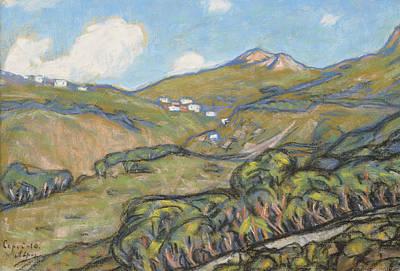 Pastel - Capri Landscape by Ants Laikmaa