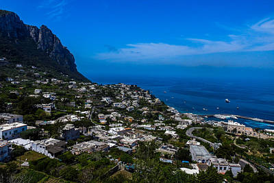 Photograph - Capri Seaside Cityscape by Marilyn Burton