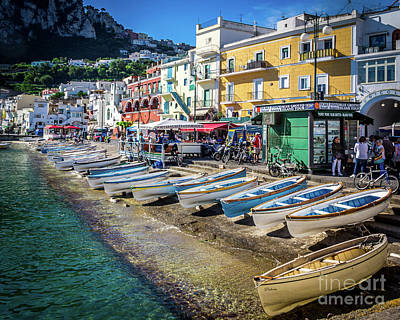 Photograph - Capri Shore by Perry Webster