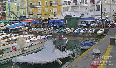 Photograph - Capri Small Harbor by Italian Art