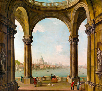 Photograph - Capriccio With St Pauls by Antonio Joli