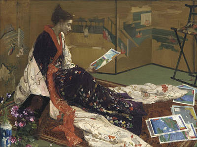 Gild Painting - Caprice In Purple And Gold by James Abbott McNeill Whistler