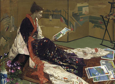 James Abbott Mcneill Whistler Painting - Caprice In Purple And Gold - The Golden Screen by James Abbott McNeill Whistler
