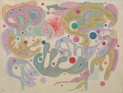 Russian Painting - Capricious Forms by Wassily Kandinsky