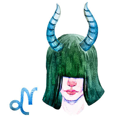 Painting - Capricorn by Aloke Creative Store