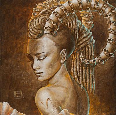 Woman Painting - Capricorn by Eurika Urbonaviciute