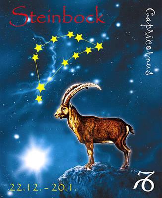 Zodiak Painting - Capricornus by Johannes Margreiter