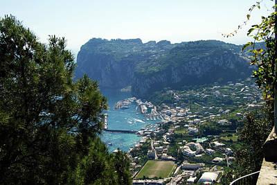 Photograph - Capri's Marina Grande From The Villa San Michele In Anacapri by Harvey Barrison
