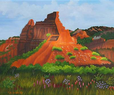 Caprock Canyon Texas Art Print by Ruth  Housley