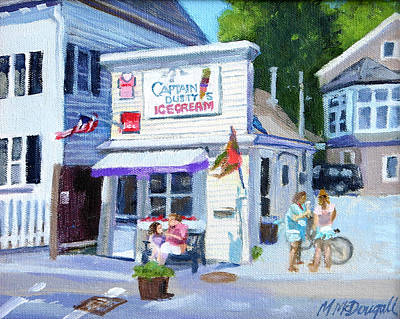 Painting - Capt. Dusty's Ice Cream by Michael McDougall