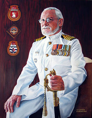 Painting - Capt John Lamont by Tim Johnson