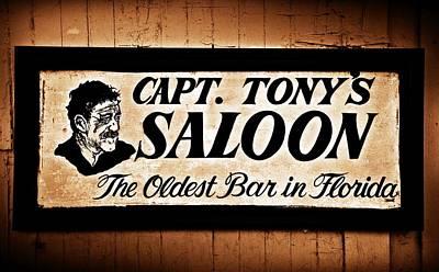 Key West Digital Art - Capt. Tony's Saloon - Key West Florida by Bill Cannon