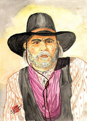Woodrow Painting - Cap't Woodrow Call Of Lonesome Dove by Arlene  Wright-Correll
