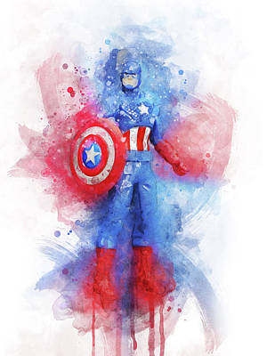 Comics Royalty-Free and Rights-Managed Images - Captain America by Aged Pixel