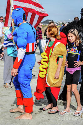 Captain America And The Armour Hotdog Art Print by Yvette Wilson