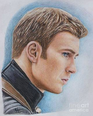 Drawing - Captain America / Chris Evans by Christine Jepsen