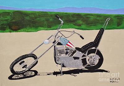 Easy Rider Painting - Easy Rider Dreams by Dennis ONeil
