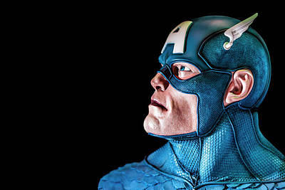 Abstract Graphics - Captain America by Jijo George