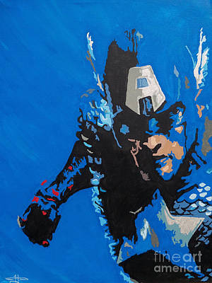 Captain America - Out Of The Blue  Original by Kelly Hartman