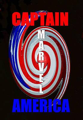 Captain America Poster Spc Work One Art Print