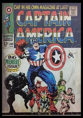 Captain America  Art Print by Rob Hans