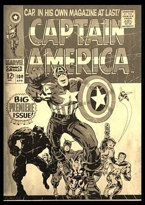 Photograph - Captain America Sepia by Rob Hans