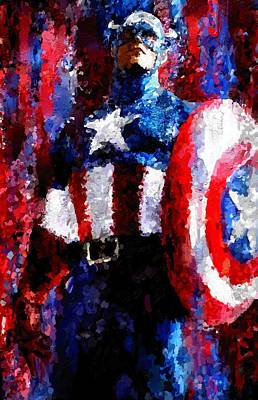 Captain America Signed Prints Available At Laartwork.com Coupon Code Kodak Art Print by Leon Jimenez