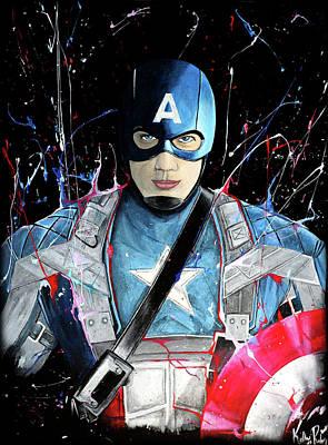 Captain America Unleashed Original by Kelly Renken