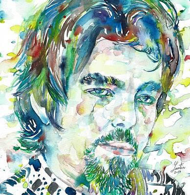 Painting - Captain Beefheart Portrait by Fabrizio Cassetta