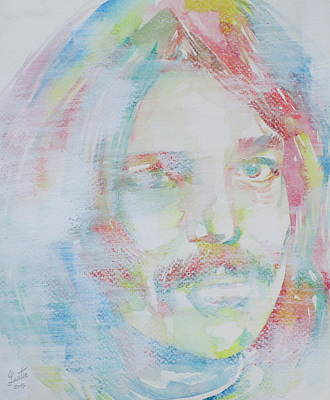 Captain Beefheart Painting - Captain Beefheart - Watercolor Portrait.6 by Fabrizio Cassetta