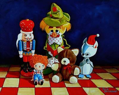 Captain Candycorns Dollhouse Choir Art Print by Doug Strickland