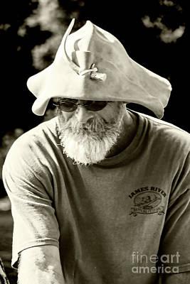 Photograph - Captain Charlie Hatcher Jrbf 20141842vct2_bws by Doug Berry
