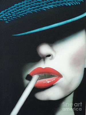 Cigarette Mixed Media - Captain Cigarette by Carla Carson