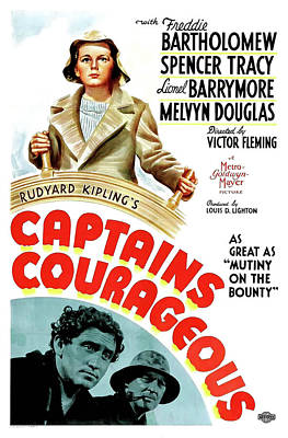 Spencer Tracy Mixed Media - Captain Courageous 1937 by Mountain Dreams