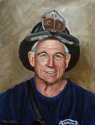 Fdny Painting - Captain E.j. by Paul Walsh